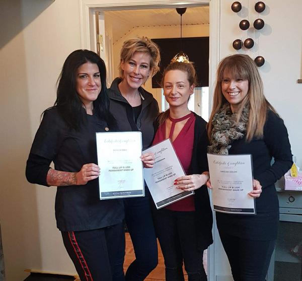De dames hebben het certificaat behaald!